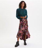 Odd Molly - Extravaganca Wrap Skirt - ALMOST BLACK