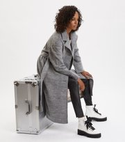 Odd Molly - Lengthy Beaut Coat - LIGHT GREY MELANGE
