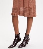 Odd Molly - Pretty Pointelle Dress - RUST