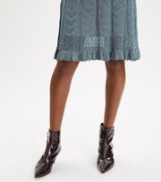 Odd Molly - Pretty Pointelle Dress - BLUE CORAL