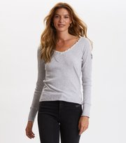 Odd Molly - Tiny Miracle L/S Top - LIGHT GREY MELANGE