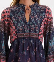 Odd Molly - La Vie Boheme V-neck Blouse - DARK BLUE