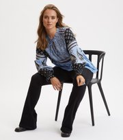 Odd Molly - La Vie Boheme V-neck Blouse - SKY BLUE
