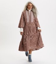 Odd Molly - Dance More Dances Dress - TAUPE
