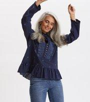 Odd Molly - Dance More Dances Blouse - DARK BLUE