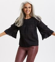 Odd Molly - Delicately Strong Blouse - ALMOST BLACK