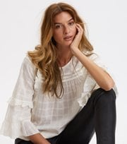 Odd Molly - Delicately Strong Blouse - LIGHT CHALK
