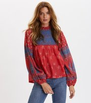 Odd Molly - La Vie Boheme Blouse - RED RASPBERRY