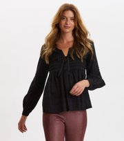 Odd Molly  - Ready To Go Blouse - ALMOST BLACK