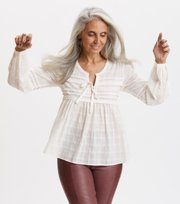 Odd Molly  - Ready To Go Blouse - LIGHT CHALK