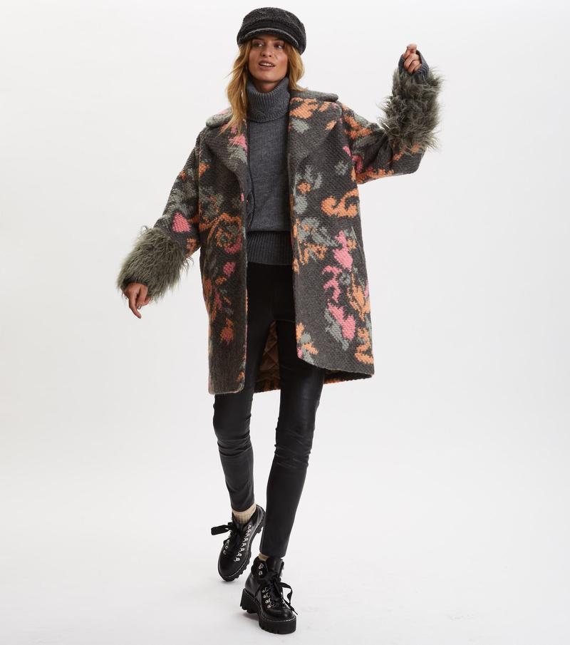Rare & Free Jacquard Coat