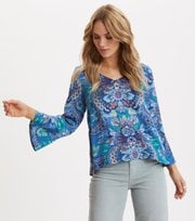 Odd Molly - Head Turner Blouse - WASHED COBALT