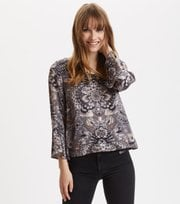 Odd Molly - Head Turner Blouse - ASPHALT