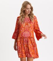 Odd Molly - Head Turner Dress - PUMPKIN ORANGE