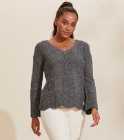 Odd Molly - Graceful Sweater - BOULDER GREY