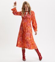 Odd Molly - Head Turner Long Dress - PUMPKIN ORANGE