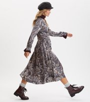 Odd Molly - Head Turner Long Dress - ASPHALT