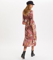 Odd Molly  - Puzzle Me Together Long Dress - RED TAUPE