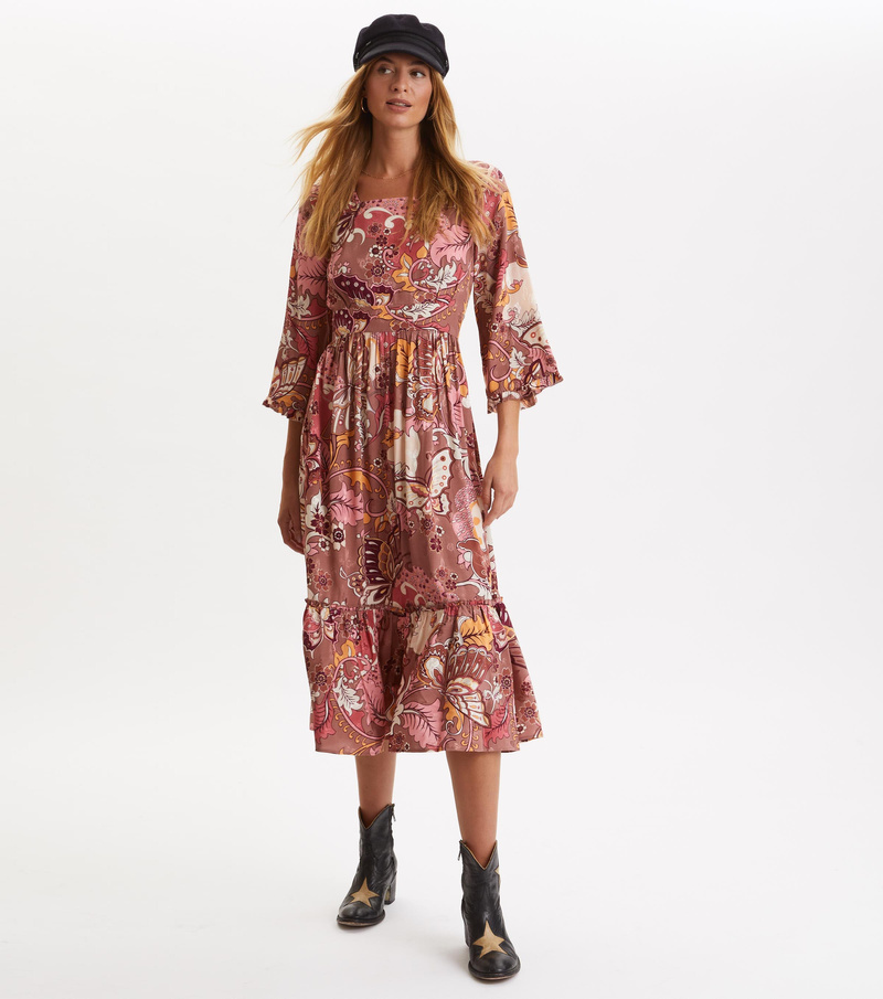 Puzzle Me Together Long Dress