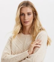 Odd Molly - A Darn Fine Yarn Sweater - LIGHT CHALK