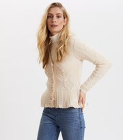 Odd Molly - A Darn Fine Yarn cardigan - LIGHT CHALK