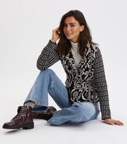 Odd Molly - Knitted Love cardigan - ALMOST BLACK