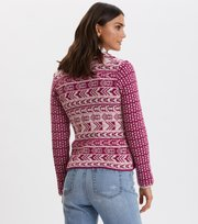 Odd Molly - Knitted Love cardigan - FIREWORK FUCHSIA