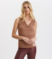 Odd Molly - Rib-Eye Tanktop - CHOCOLATE CREAM