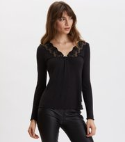 Odd Molly - Rib-Eye Top - ALMOST BLACK