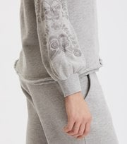 Odd Molly - Sunday Snooze Sweater - LIGHT GREY MELANGE