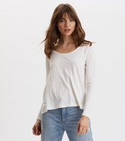 Odd Molly - Woven To Life Top - LIGHT CHALK