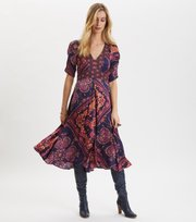 Odd Molly - Insanely Right Long Dress - FIREWORK FUCHSIA