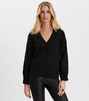 Odd Molly - Sleeves Up Blouse - ALMOST BLACK