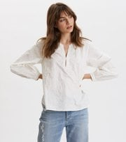 Odd Molly - Every Moment Blouse - LIGHT CHALK