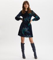Odd Molly  - Cherry Bomb Dress - NIGHT SKY BLUE