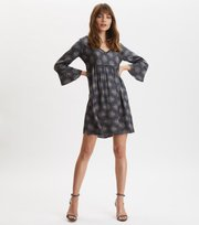 Odd Molly - My Medallion V-Neck Dress - DARK SHADOW