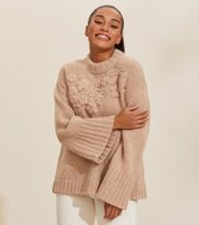 Odd Molly - Life Coordinator Sweater - LIGHT TAUPE