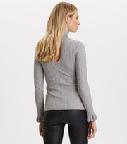 Odd Molly - miss turtle l/s top - GREY MELANGE