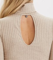 Odd Molly - miss turtle l/s top - LIGHT TAUPE MELANGE
