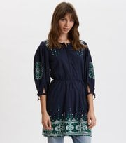 Odd Molly - Puffy Toughie Dress - DEEP NAVY