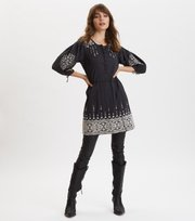 Odd Molly - Puffy Toughie Dress - DEEP ASPHALT
