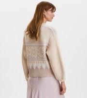 Odd Molly - Magnetic Jacquard Sweater - OFFWHITE