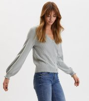 Odd Molly - Trustworthy V-neck Cardigan - WASHED CARGO