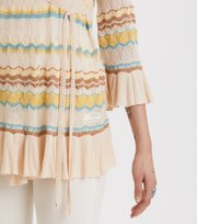 Odd Molly - Knockout Frill Wrap Cardigan - PORCELAIN