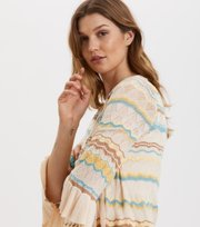 Knockout Frill Wickelcardigan