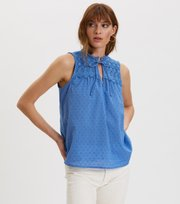 Odd Molly - Finest Embroidery Bluse - VIVID BLUE