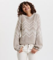 Odd Molly - Magnetic Striped Pullover - GREY