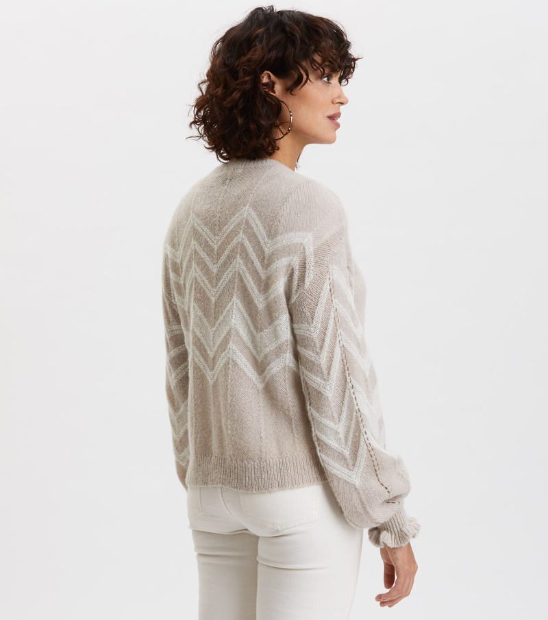 Magnetic Striped Cardigan