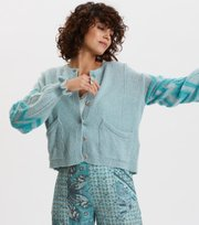 Odd Molly - Magnetic Striped Cardigan - SPRING BLUE