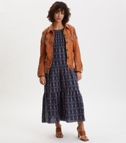 Odd Molly - Powerful Cotton Dress - DK BLUE